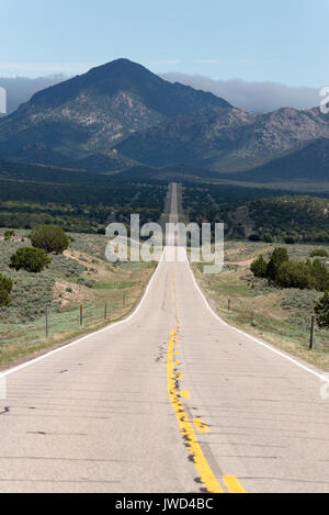 Highway 56 in Western Utah. - Stock Photo