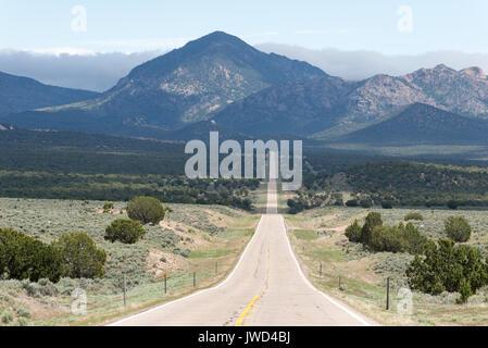 Highway 56 in Western Utah. - Stock Photo