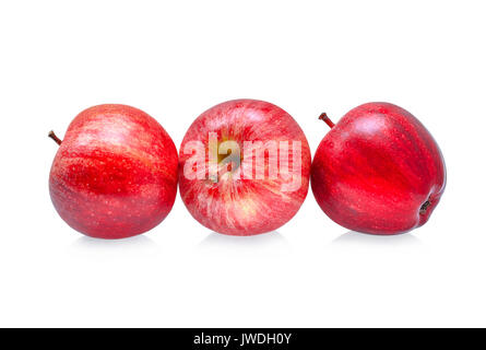 fresh gala apples isolated on white background - Stock Photo