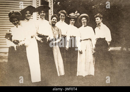 A gathering of Women having fun in Minnesota USA 1907-1908 - Stock Photo