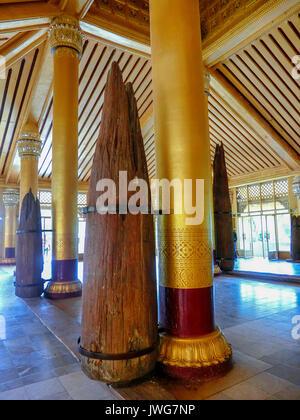 Kamboza thadi palace in Myanmar. - Stock Photo