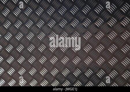Aluminium non slip checker plate, - Stock Photo