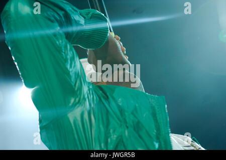 Rapper Nas performs Rock Bells. - Stock Photo