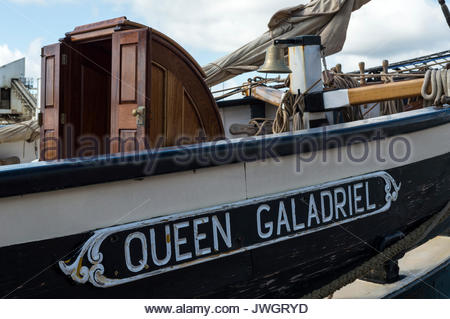 Baltic Trader vessel Queen Galadriel moored at Poole Quay, Dorset, England - Stock Photo