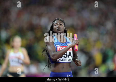 London, UK. 12th August, 2017. IAAF World Championships, Queen Elizabeth Olympic Park, Stratford, London, UK. Tori - Stock Photo