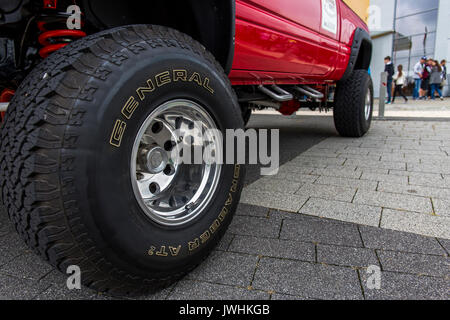Bielsko-Biala, Poland. 12th Aug, 2017. International automotive trade fairs - MotoShow Bielsko-Biala. View on a - Stock Photo