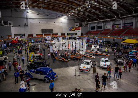Bielsko-Biala, Poland. 12th Aug, 2017. International automotive trade fairs - MotoShow Bielsko-Biala. Main hall. - Stock Photo