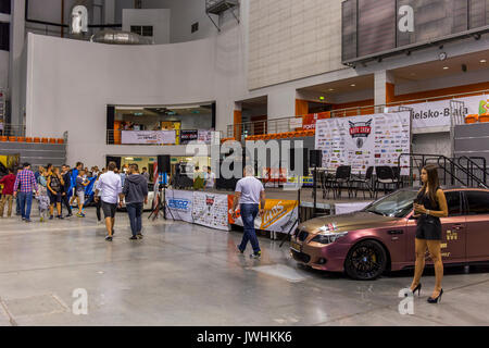 Bielsko-Biala, Poland. 12th Aug, 2017. International automotive trade fairs - MotoShow Bielsko-Biala. Stage. Credit: - Stock Photo