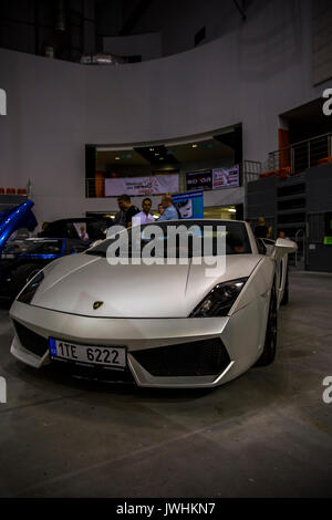 Bielsko-Biala, Poland. 12th Aug, 2017. International automotive trade fairs - MotoShow Bielsko-Biala. Lamborghini - Stock Photo