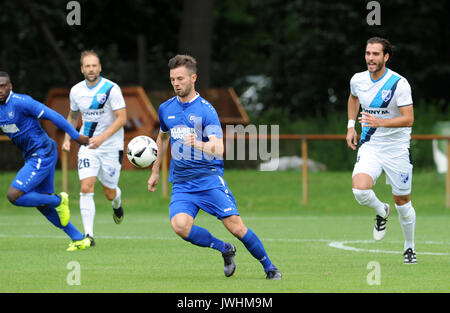 Karlsruhe, Deutschland. 12th Aug, 2017. Marcel Mehlem (KSC. GES/ Fussball/ Oberliga: Karlsruher SC 2 - FSV Bissingen - Stock Photo