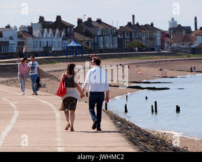 Sheerness, Kent. 13 Aug, 2017. UK Weather: a sunny afternoon in Sheerness with temperatures over 23 deg c and light - Stock Photo