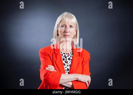 Edinburgh, UK. 13th Aug, 2017. Sheila Szatkowski, the historian and writer, appearing at the Edinburgh International - Stock Photo