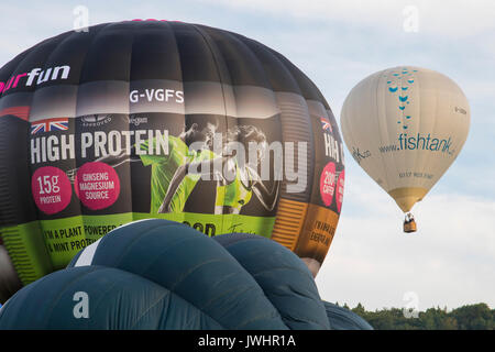 G-CDDN Lindstand Balloon of Fishtank at Bristol International Balloon Fiesta 2017 held in Ashton Court Estate in Bristol, England.