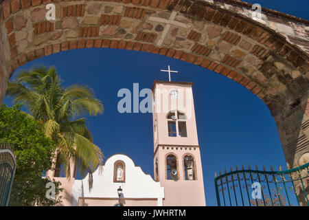 El Tuito was founded in the 16th century.  It is a small town about 55 min. from Puerto Vallarta Mexico - Stock Photo