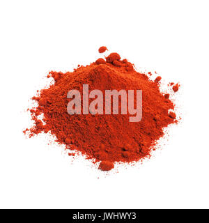 Powdered dried red pepper isolated on white background. - Stock Photo