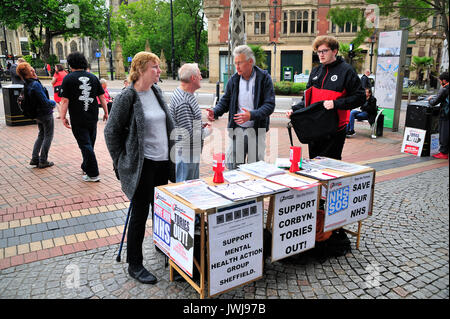 Political activists Sheffield South Yorkshire - Stock Photo