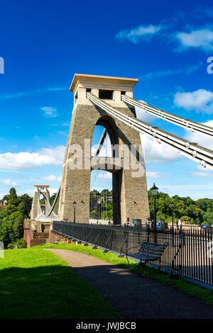 Clifton Suspension Bridge, Bristol, Avon, England, UK - Stock Photo