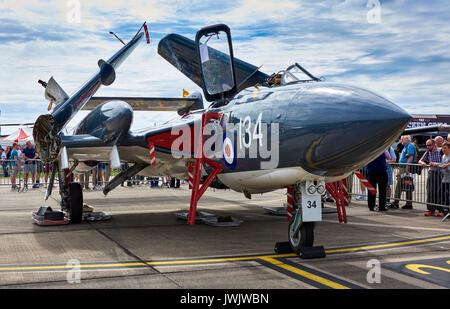 Sea Vixen on static display at RNAS Yeovilton Air Day 2017 - Stock Photo