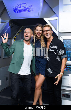 Celebrities attend the launch of  Alien Escape at Madame Tussauds London  Featuring: Spencer Matthews, Vogue Williams - Stock Photo