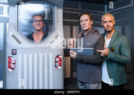 Celebrities attend the launch of  Alien Escape at Madame Tussauds London  Featuring: Spencer Matthews and Oliver - Stock Photo