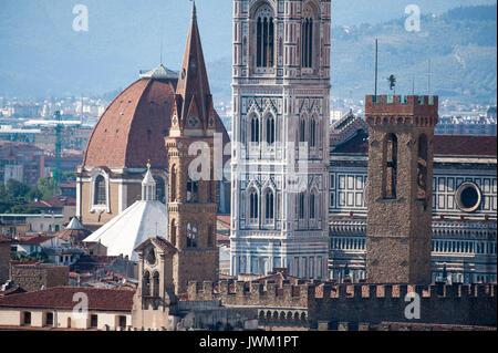 Badia Fiorentina, Bargello, Basilica San Lorenzo, Battistero di San Giovanni, Cattedrale di Santa Maria del Fiore - Stock Photo