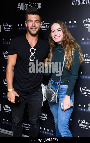 Celebrities attend the launch of  Alien Escape at Madame Tussauds London  Featuring: Alex Mytton Where: London, - Stock Photo
