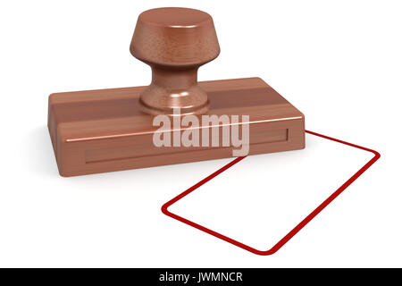 Wooden stamp image with hi-res rendered artwork that could be used for any graphic design. - Stock Photo