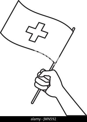 waving flag of switzerland vector illustration with copyspace stock United Kingdom Flag switzerland flag vector illustration hand holding flag of switzerland symbol national stock photo