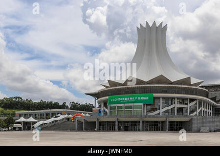 NanNing, China - August 10, 2017: External view of the Nanning International Convention and Exhibition Center - Stock Photo