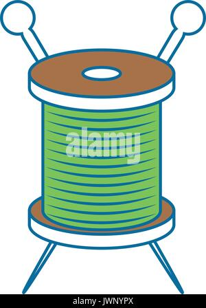 Needle and wool icon vector illustration graphic design - Stock Photo