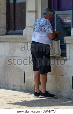NatWest ATM, Swanage, Dorset, England, UK - Stock Photo