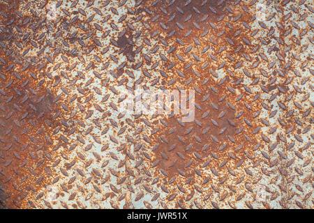 Steel plate slip old metal floor sheet, rusty steel plate texture, metallic texture, steel industry background, - Stock Photo