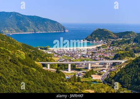 Kumano City, Mie Prefecture, Japan at Atashika waterfront.
