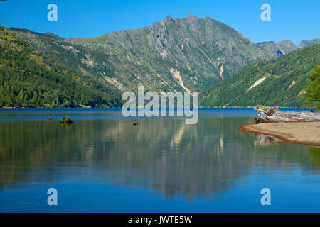 Coldwater Lake, Spirit Lake Memorial Highway, Mt St Helens National Volcanic Monument, Washington - Stock Photo