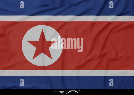 North, Korea, flag, wrinklet - Stock Photo