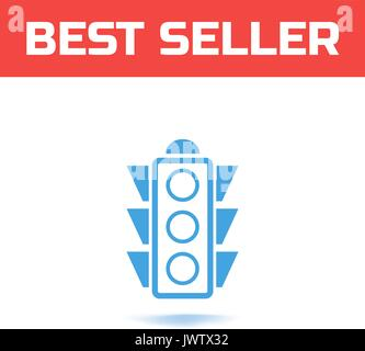 Traffic light icon. The Symbol for your web site design or logo or user interface - Stock Photo