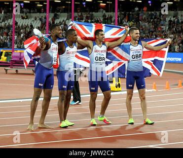 Nethaneel Mitchell Blake, Chijindu Ujah, Adam Gemili & Daniel Talbot 4 X100 Metres World Athletics Championships - Stock Photo