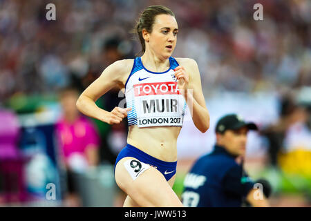 London, UK. 13th Aug, 2017.  Laura Muir, Great Britain, in the women's 5000m final on day ten of the IAAF London - Stock Photo