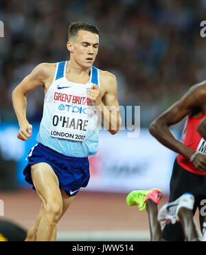 London, UK. 13th Aug, 2017.  Chris O'Hare, Great Britain the men's 1500m final on day ten of the IAAF London 2017 - Stock Photo