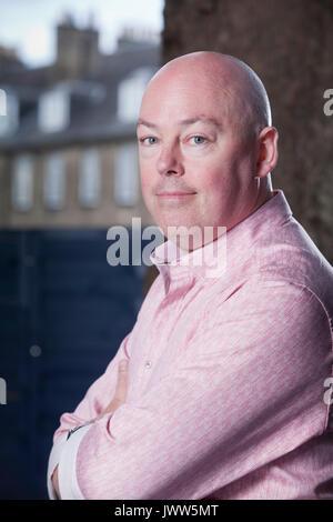 Edinburgh, UK. 13th Aug, 2017. John Boyne, the Irish novelist, appearing at the Edinburgh International Book Festival. - Stock Photo
