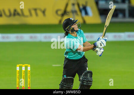 London, UK. 13th Aug, 2017. Marizanne Kapp batting for Surrey Stars against Yorkshire Diamonds in the Kia Super - Stock Photo