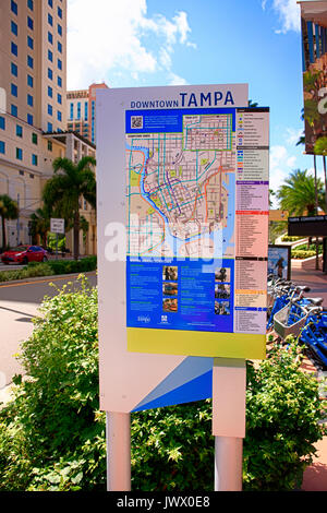 Map of Tampa Florida Stock Photo 35973100 Alamy