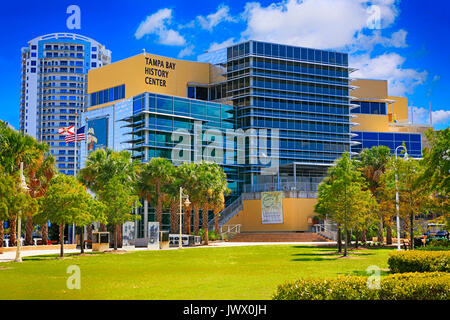 Tampa Bay History Center on the riverfront in downtown Tampa FL, USA - Stock Photo
