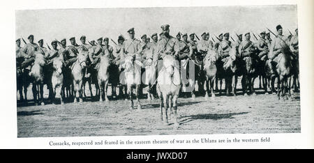 World War I — Cossacks, respected and feared in the eastern theatre of war as the Uhlans are in the western field. - Stock Photo