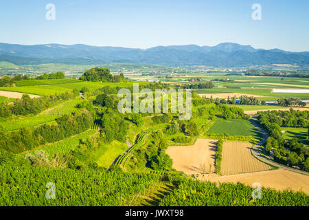 View from the Tuniberg in Freiburg, Breisgau - Germany - Stock Photo
