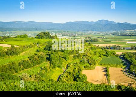 View from the Tuniberg in Freiburg, Breisgau - Germany - Stock Photo