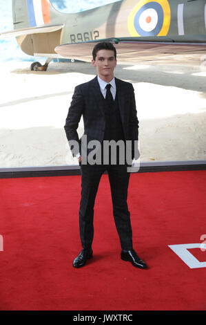 World Premiere of 'Dunkirk' held at the Odeon Leicester Square - Arrivals  Featuring: Fionn Whitehead Where: London, - Stock Photo