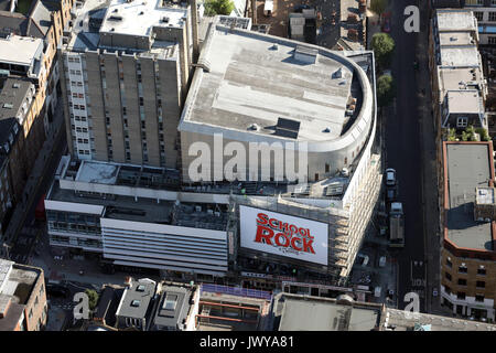 aerial view of London New Theatre, London - Stock Photo