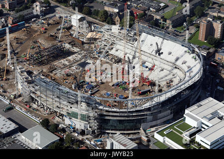 aerial view of Tottenham Hotspur White Hart Lane new stadium under construction, London, UK - Stock Photo