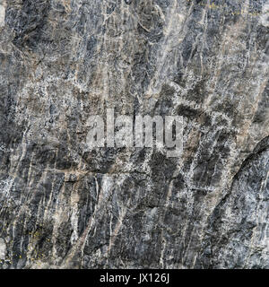 Ancient Primitive Petroglyphs on Black Rock Stone - Stock Photo